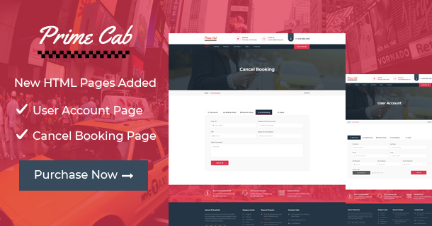 Prime Cab - Taxi | Car Booking PayPal Template - 6